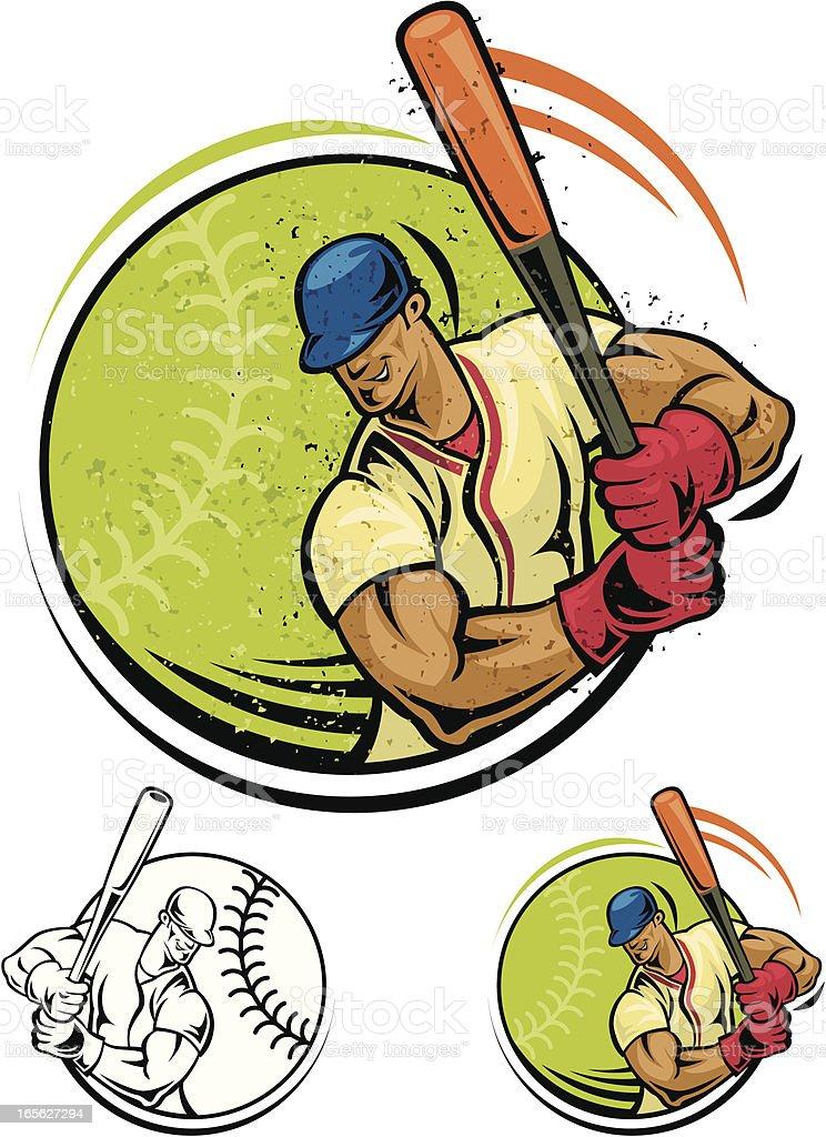 baseball player royalty-free stock vector art