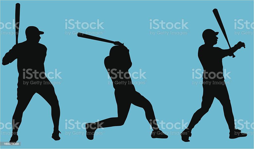 Baseball Players ( Vector ) royalty-free stock vector art