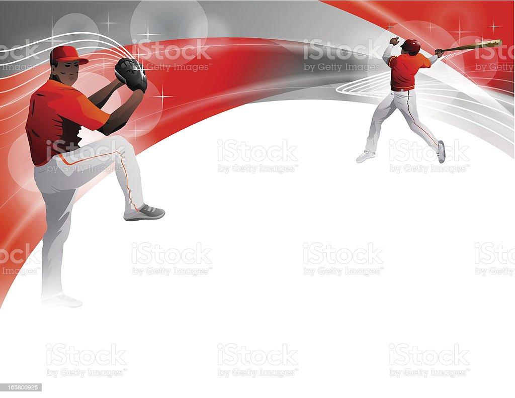 Baseball Players royalty-free stock vector art