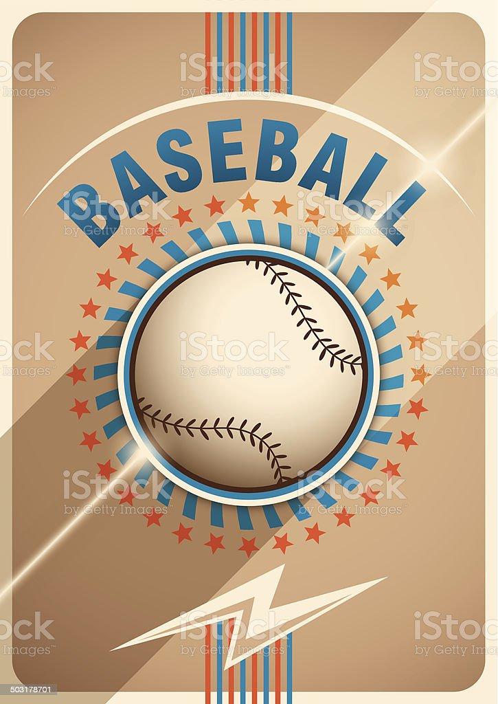 Baseball poster design. royalty-free stock vector art