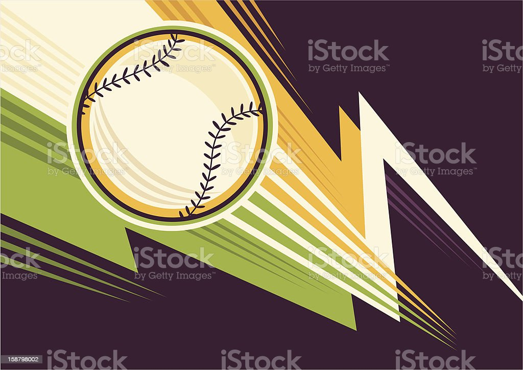 Baseball poster. vector art illustration