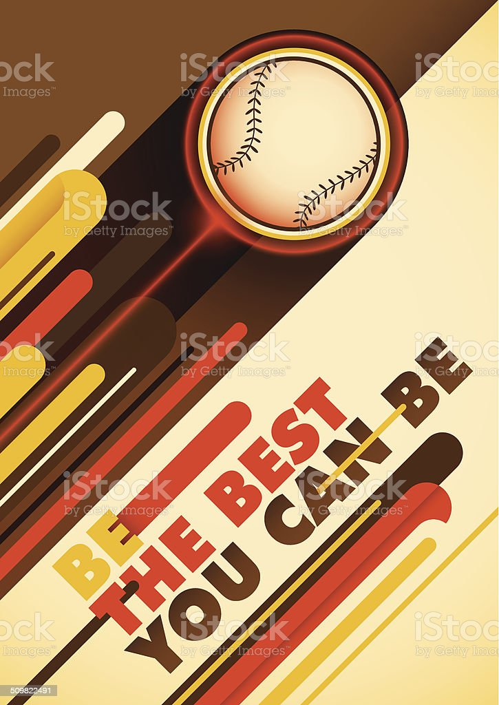 Baseball poster with abstract design. vector art illustration