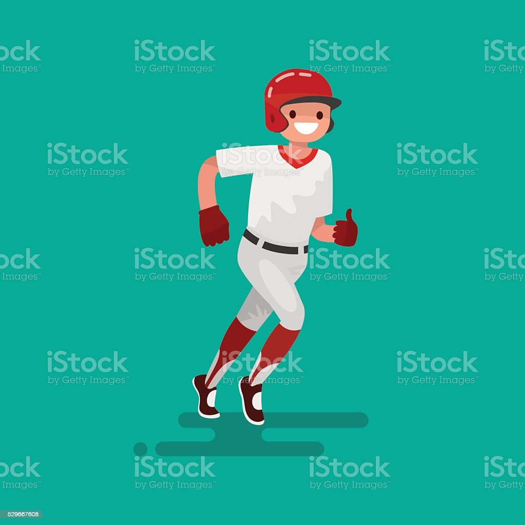 Baseball runner player. Vector Illustration vector art illustration