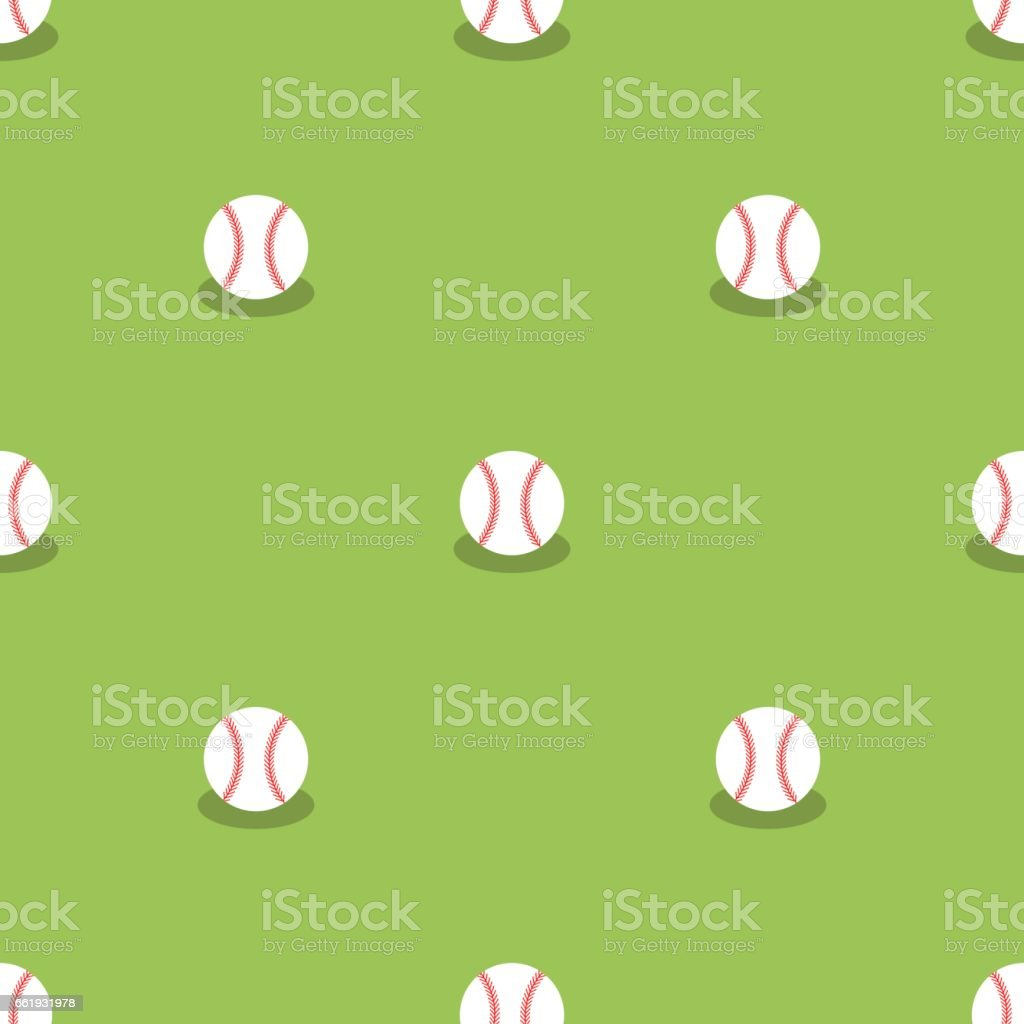 Baseball Seamless Pattern. Sport Background vector art illustration