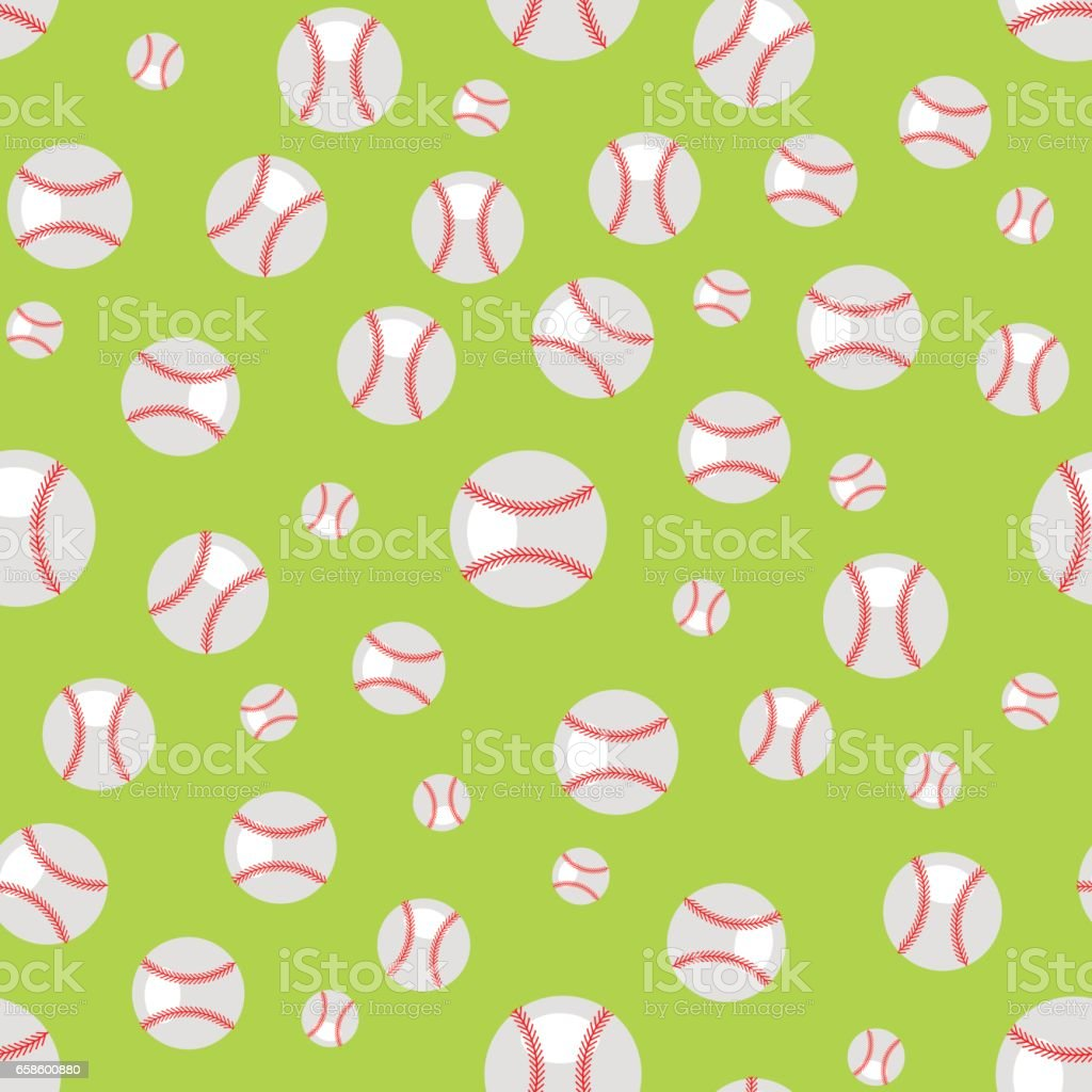 Baseball Seamless Pattern vector art illustration