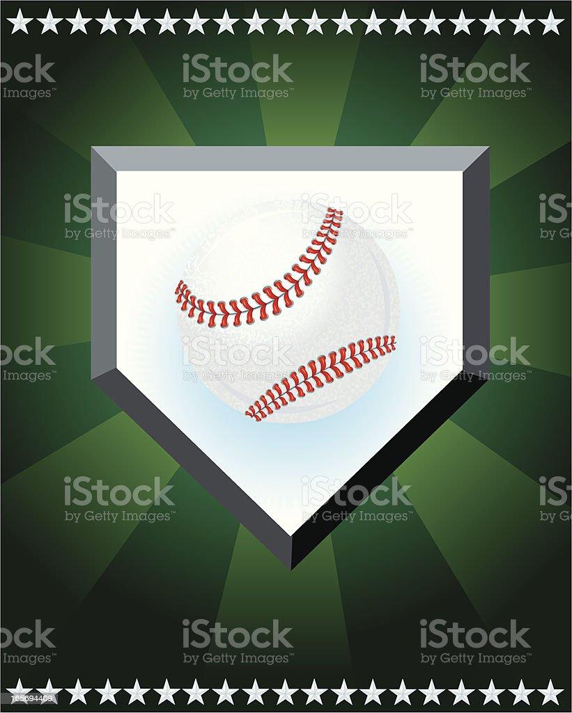 Baseball Sport Home Plate Star Design vector art illustration