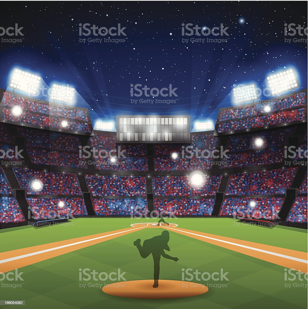 Baseball Stadium vector art illustration