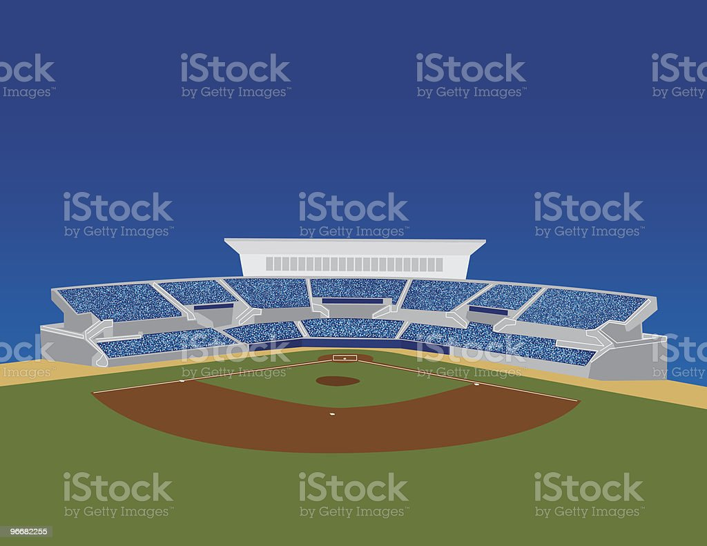 Baseball Stadium Vector royalty-free stock vector art