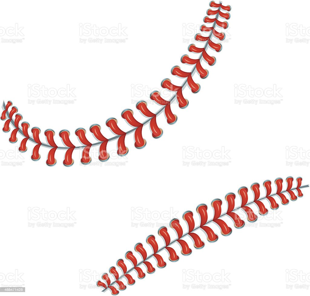 Baseball Stitches or Laces Background vector art illustration