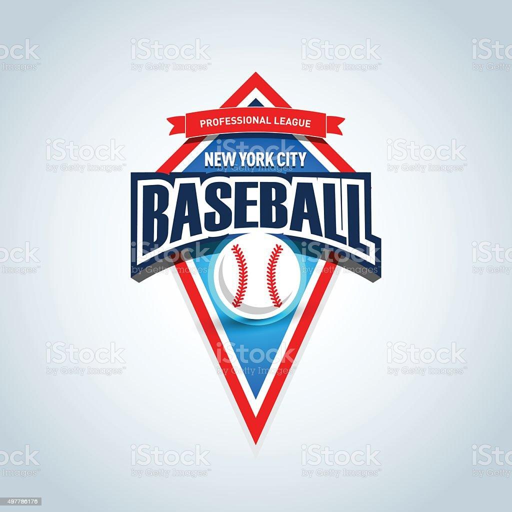 Baseball team emblem. Sport badge for tournament or championship. vector art illustration