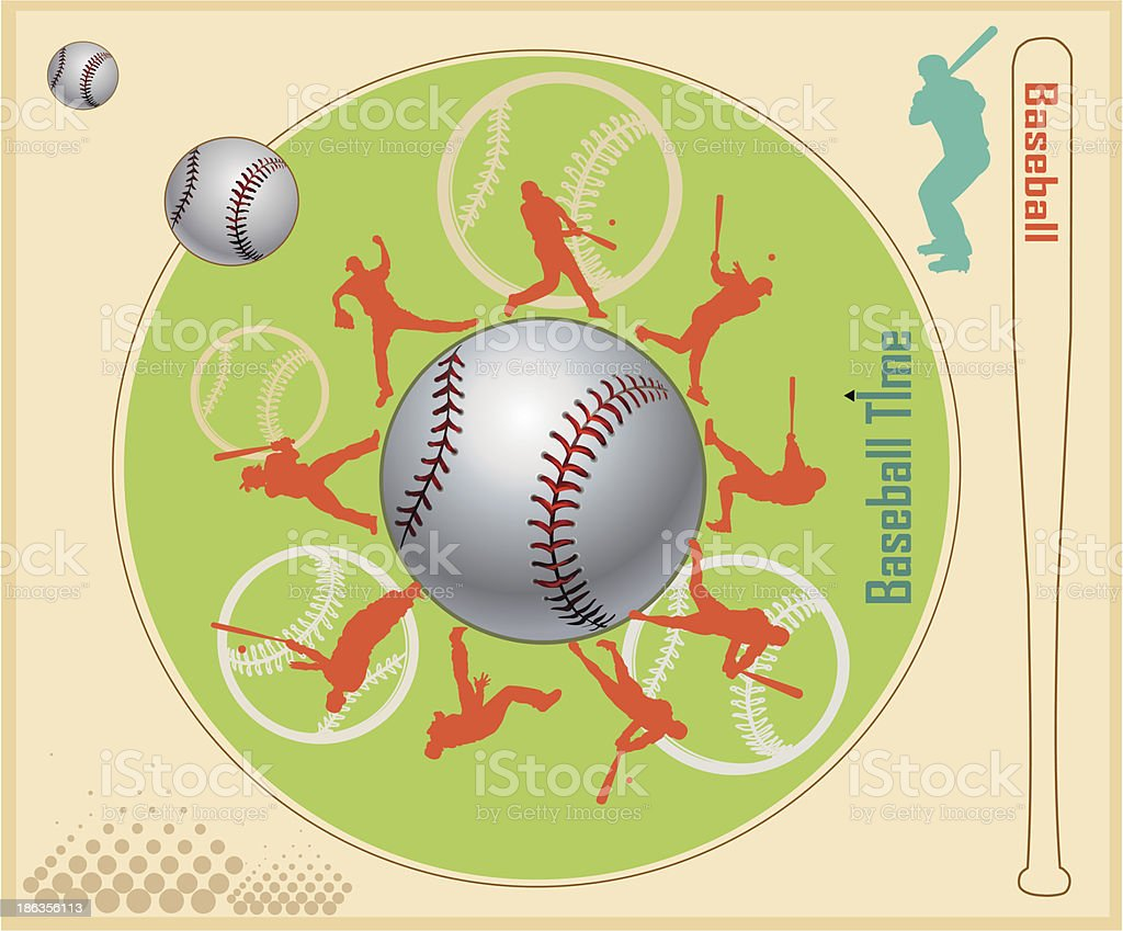 Baseball Teams royalty-free stock vector art