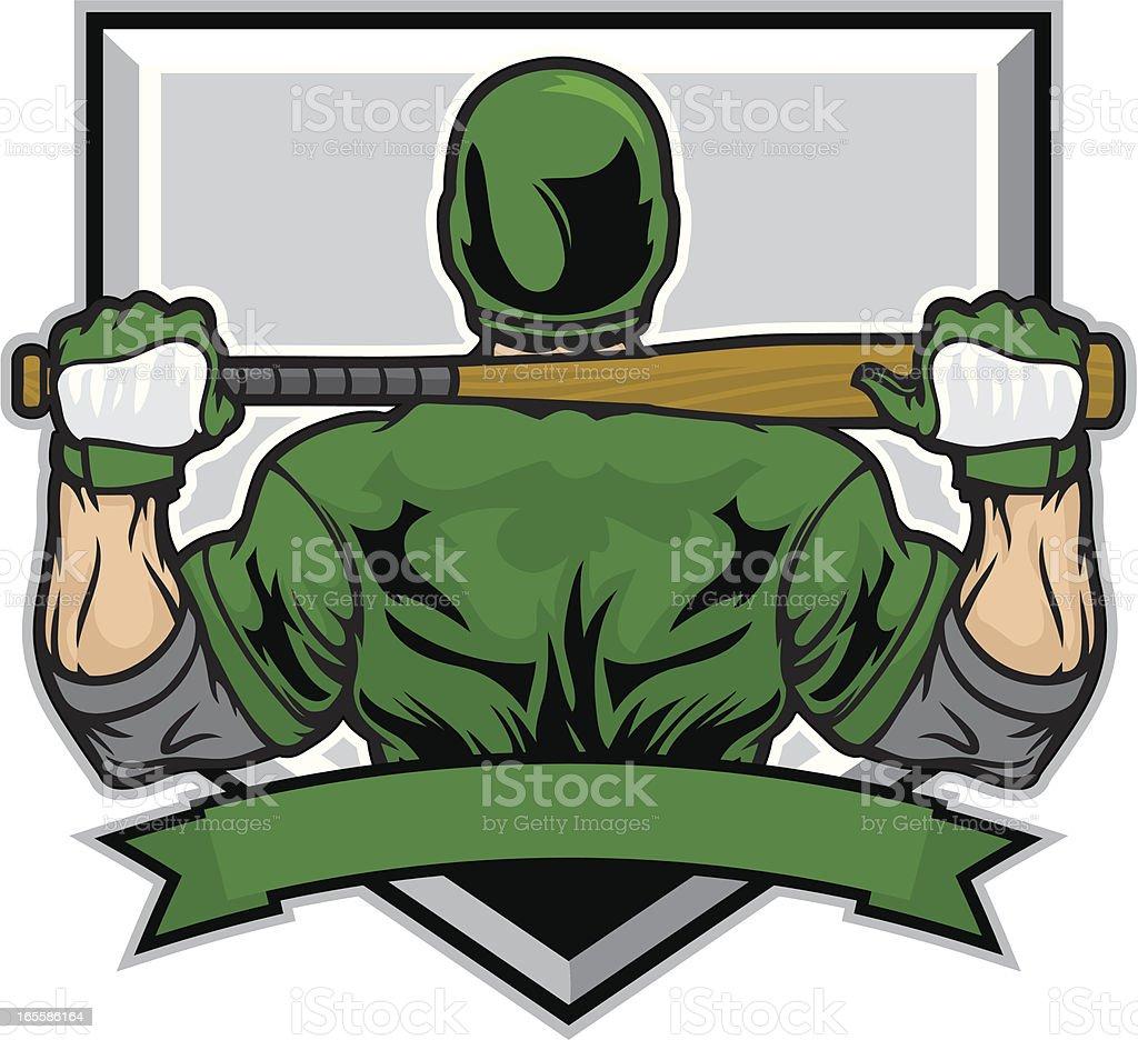 Baseball Tough royalty-free stock vector art