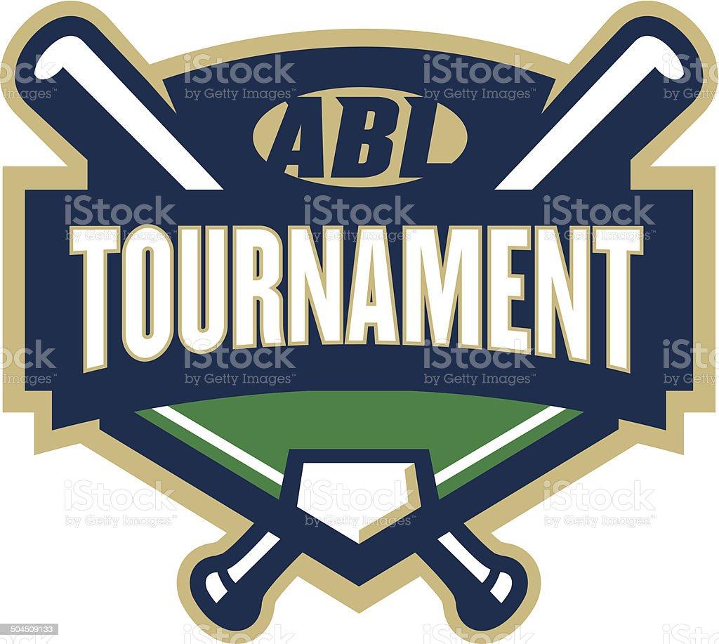 Baseball Tournament Logo vector art illustration