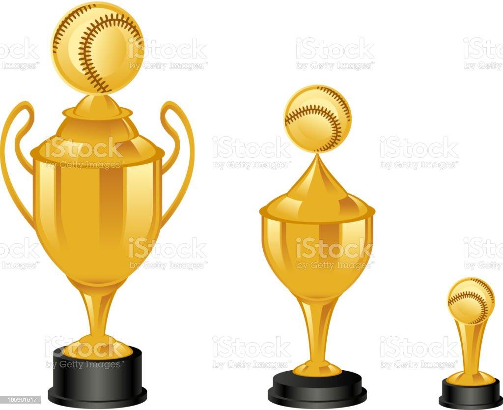 Baseball trophies royalty-free stock vector art