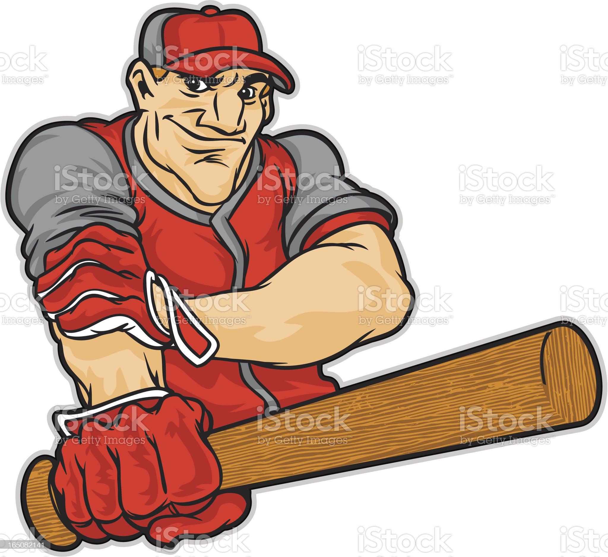 baseball warmup royalty-free stock vector art