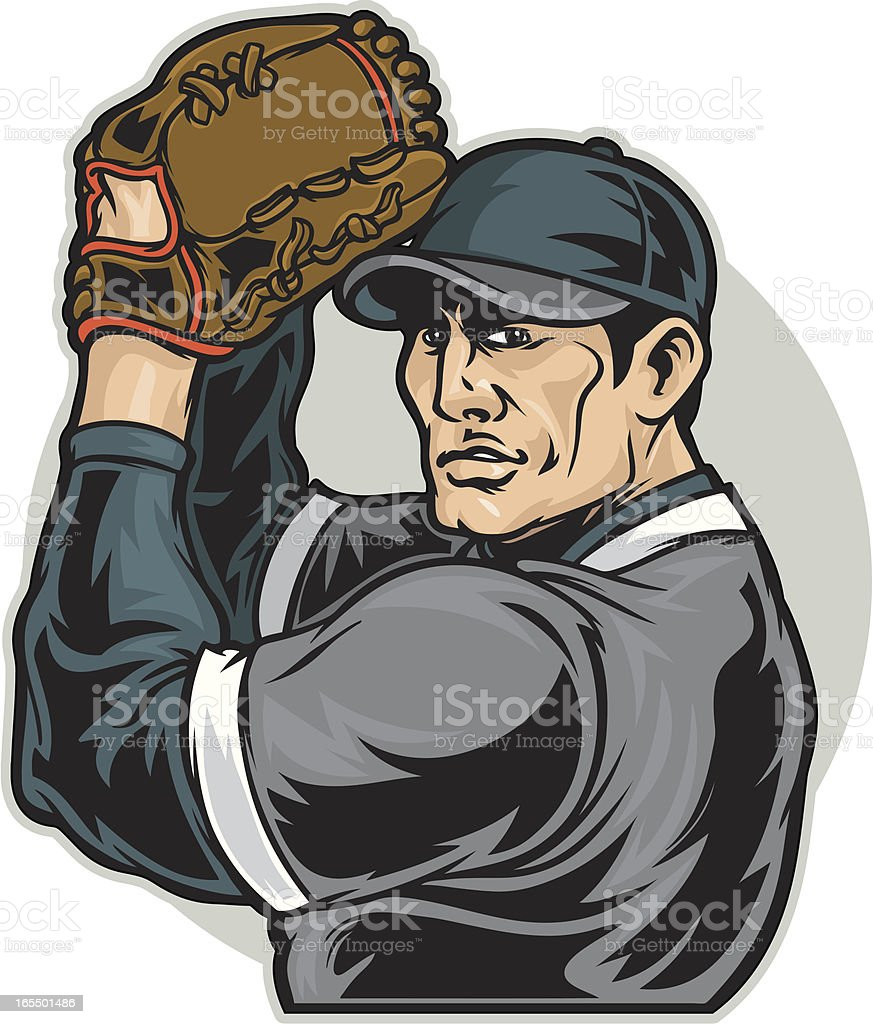 Baseballer royalty-free stock vector art