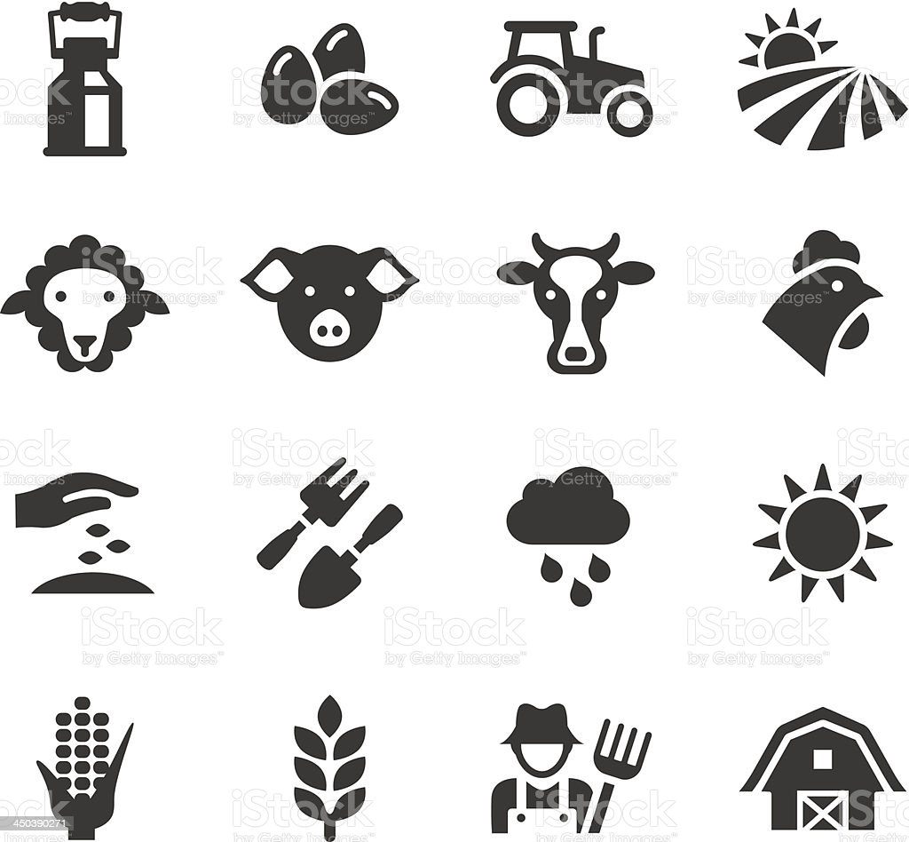 Basic - Agriculture and Farming icons vector art illustration