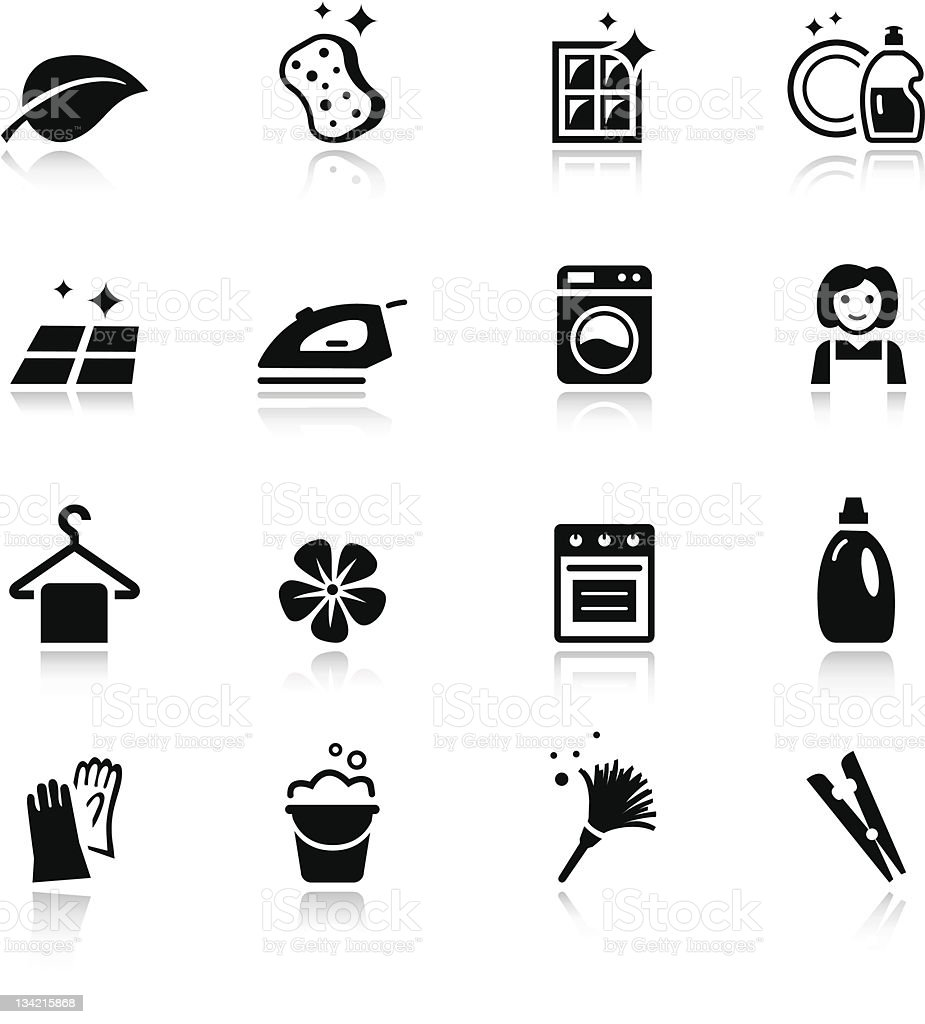 Basic - Cleaning Icons vector art illustration