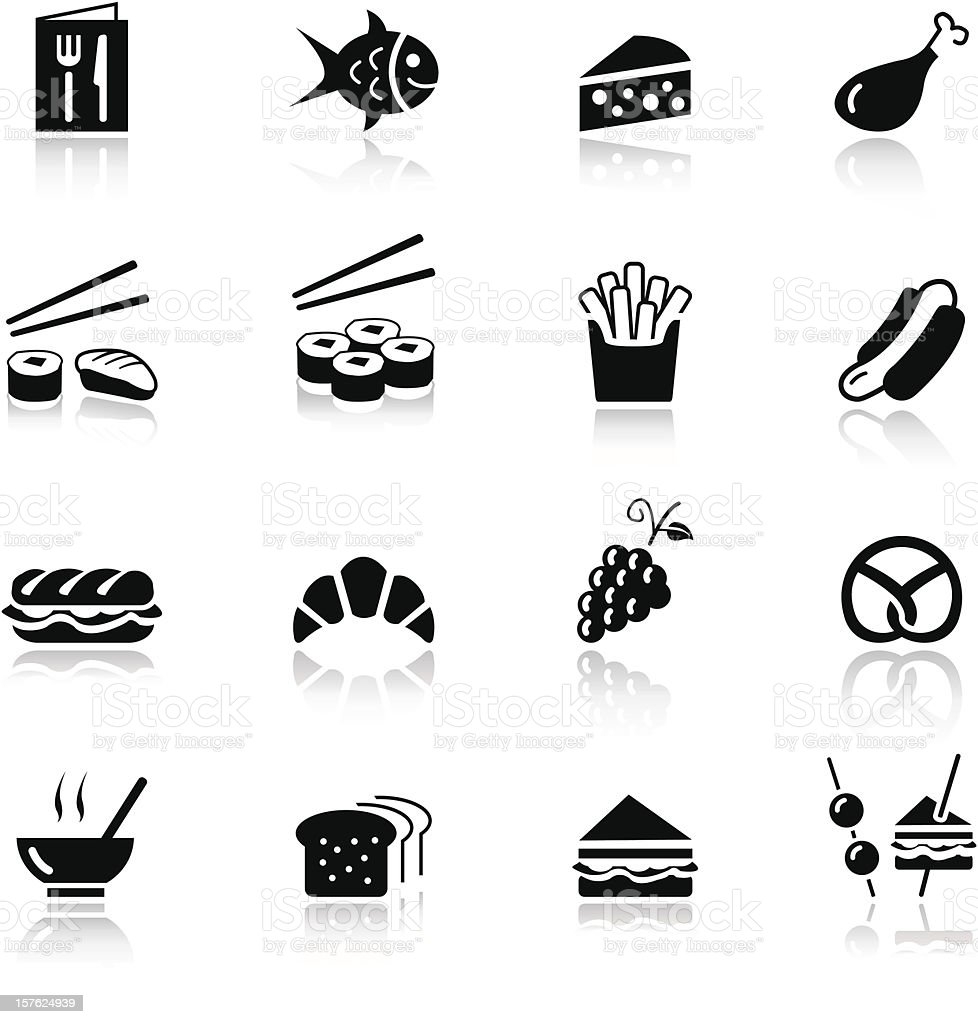Basic - Food Icons vector art illustration