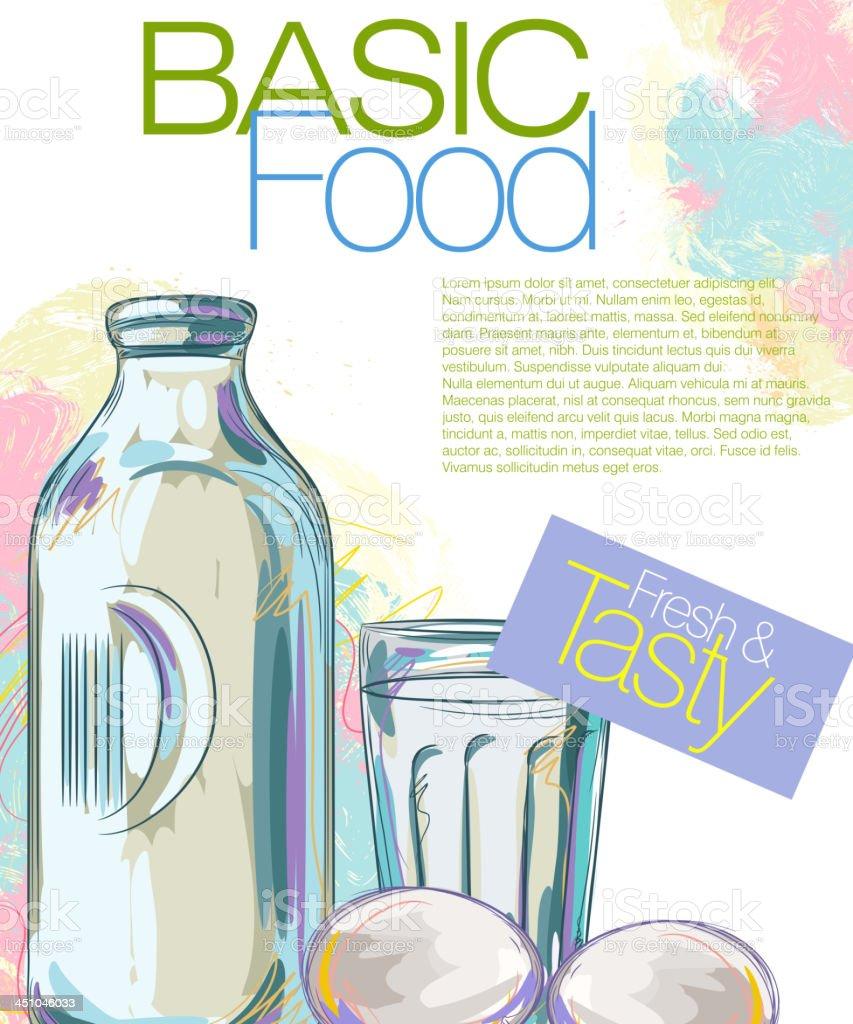 Basic Food royalty-free stock vector art