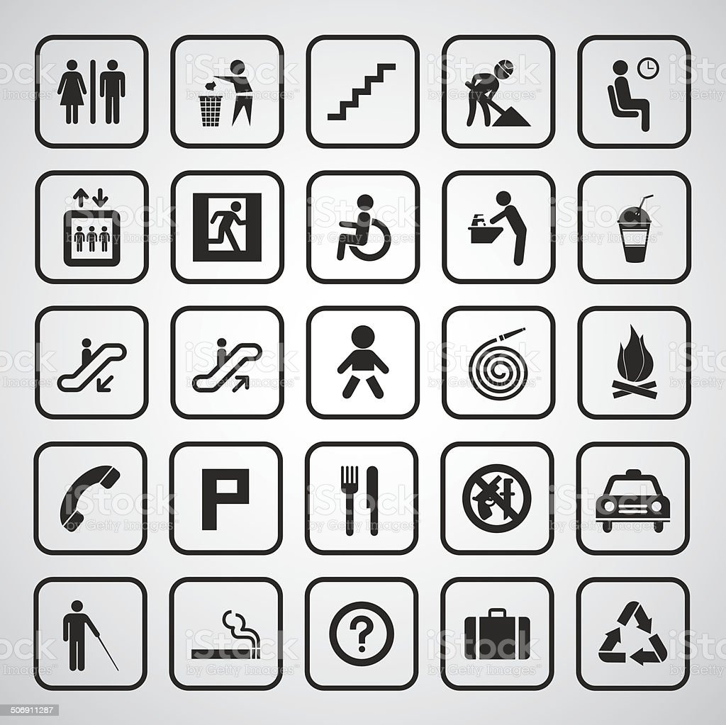 basic general icon vector art illustration
