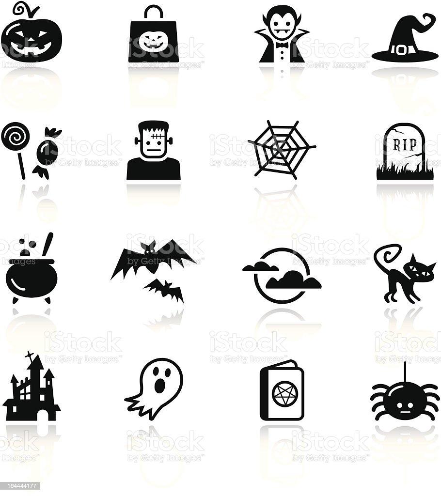 Basic - Halloween icons vector art illustration