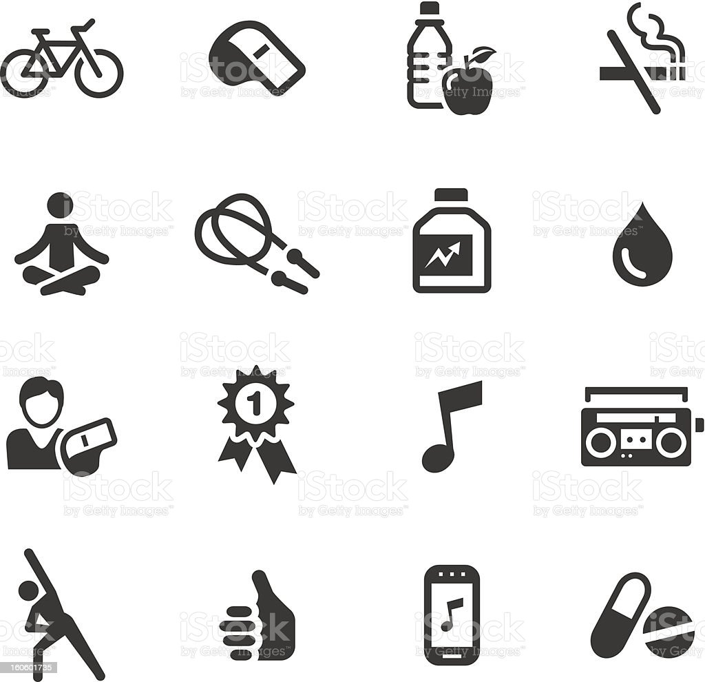 Basic - Health and Fitness icons vector art illustration