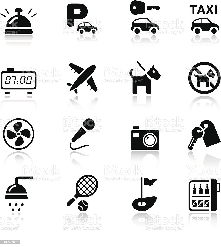 Basic - Hotel icons royalty-free stock vector art