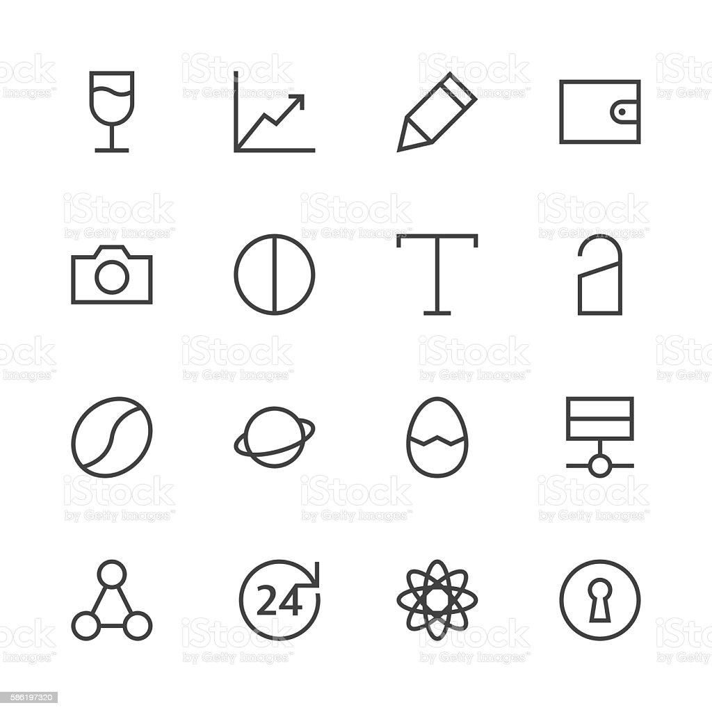 Basic Icon Set 10 - Line Series vector art illustration
