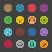 Basic Icon Set 2 - Color Circle Series