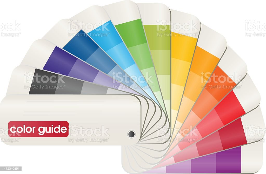 Basic Pantone PMS color matching guide royalty-free stock vector art