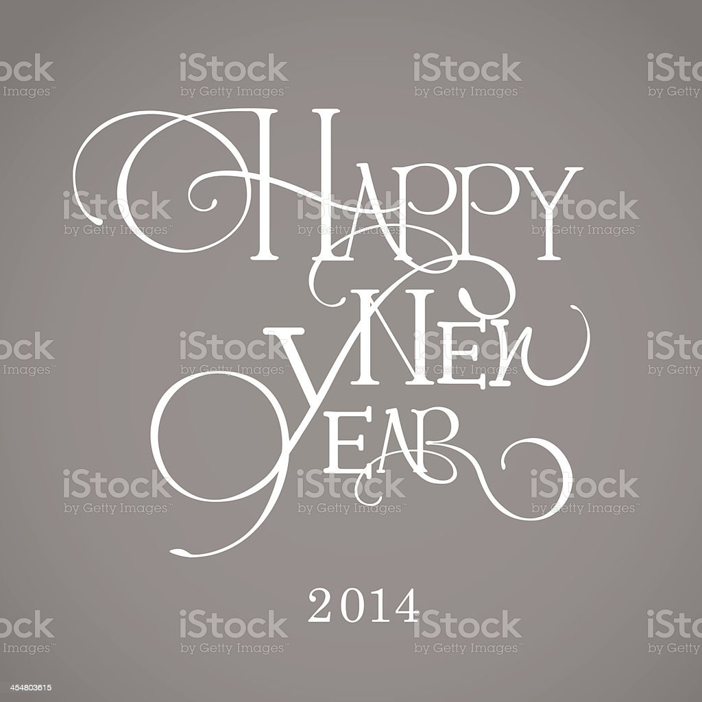 Basic RGBNew Year Calligraphy royalty-free stock vector art