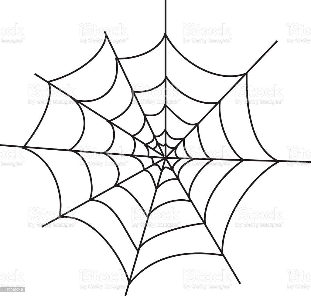 Basic Spiderweb (vector) vector art illustration