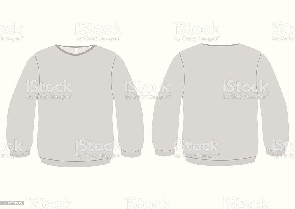 Basic Sweater template vector illustration royalty-free stock vector art