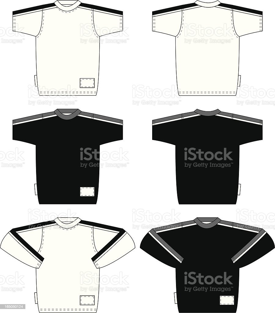 Basic T Shirt includes Long Sleeve Version royalty-free stock vector art
