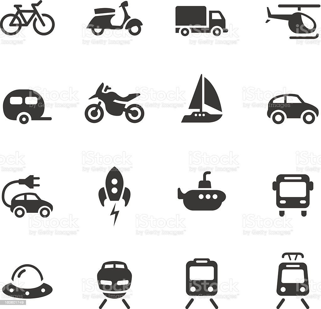 Basic - Transportation icons vector art illustration
