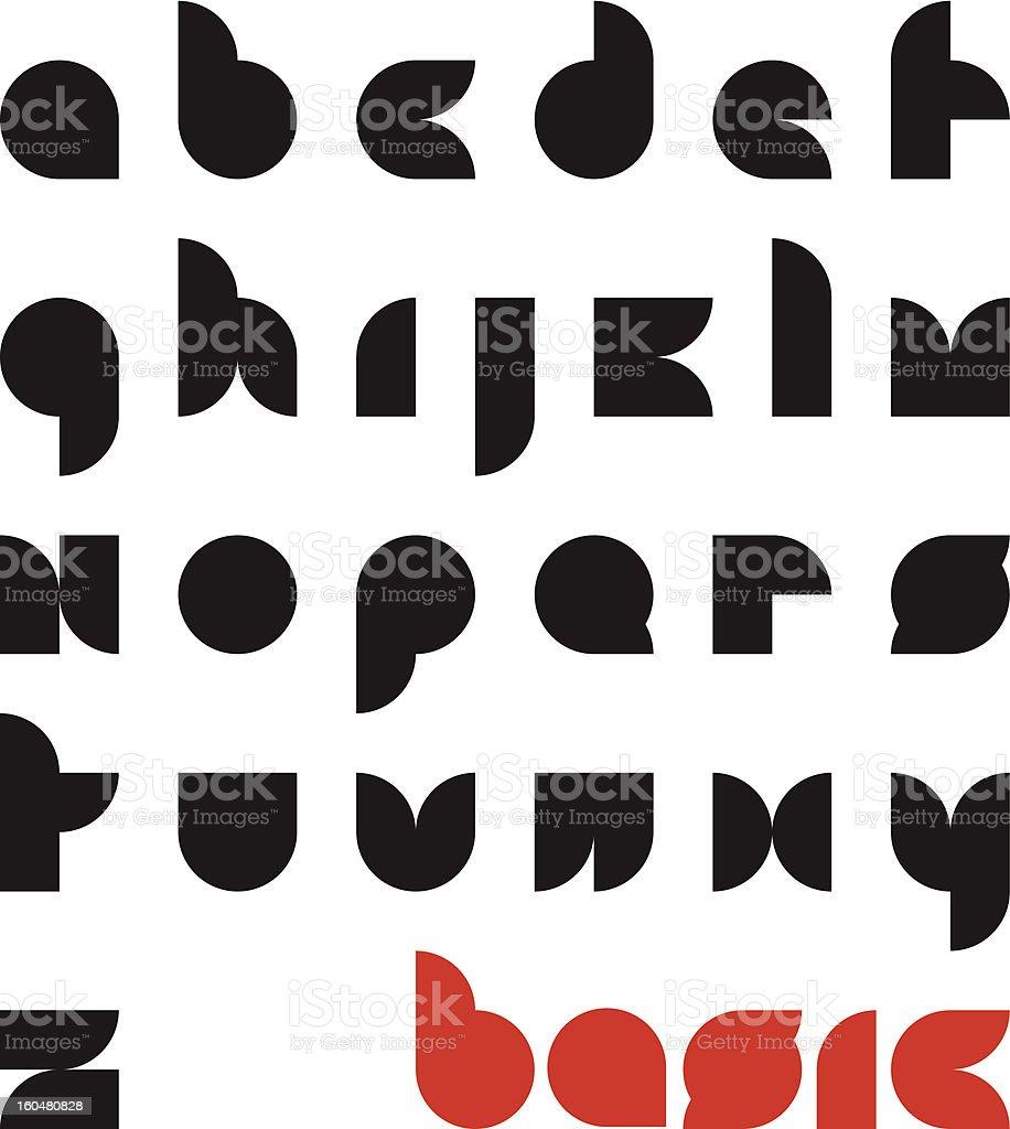 basic typeface royalty-free stock vector art