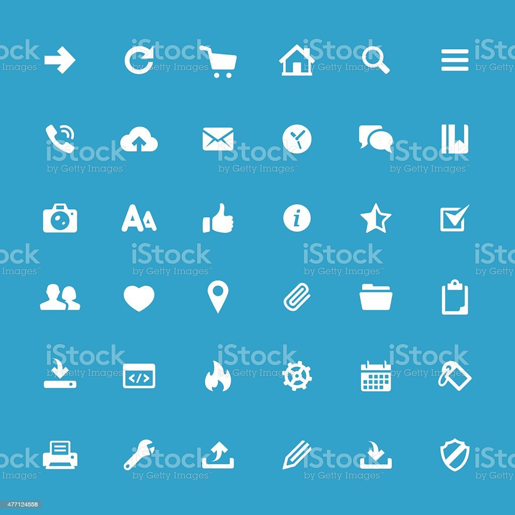 UI basics vector icons vector art illustration