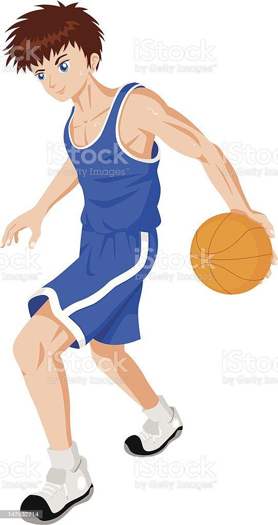 Basket Ball Player royalty-free stock vector art