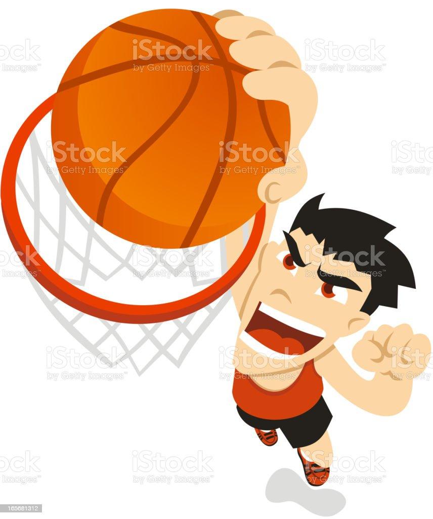 Basket dunk vector art illustration