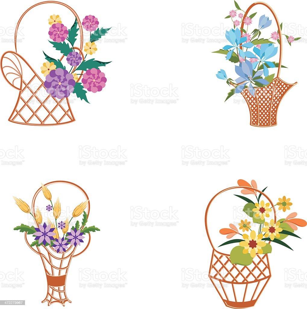 Basket part 5 vector art illustration