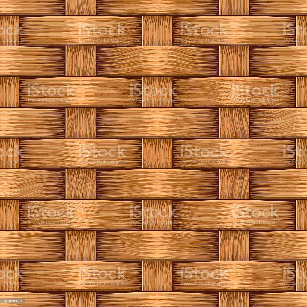 Basket weaving background design vector art illustration