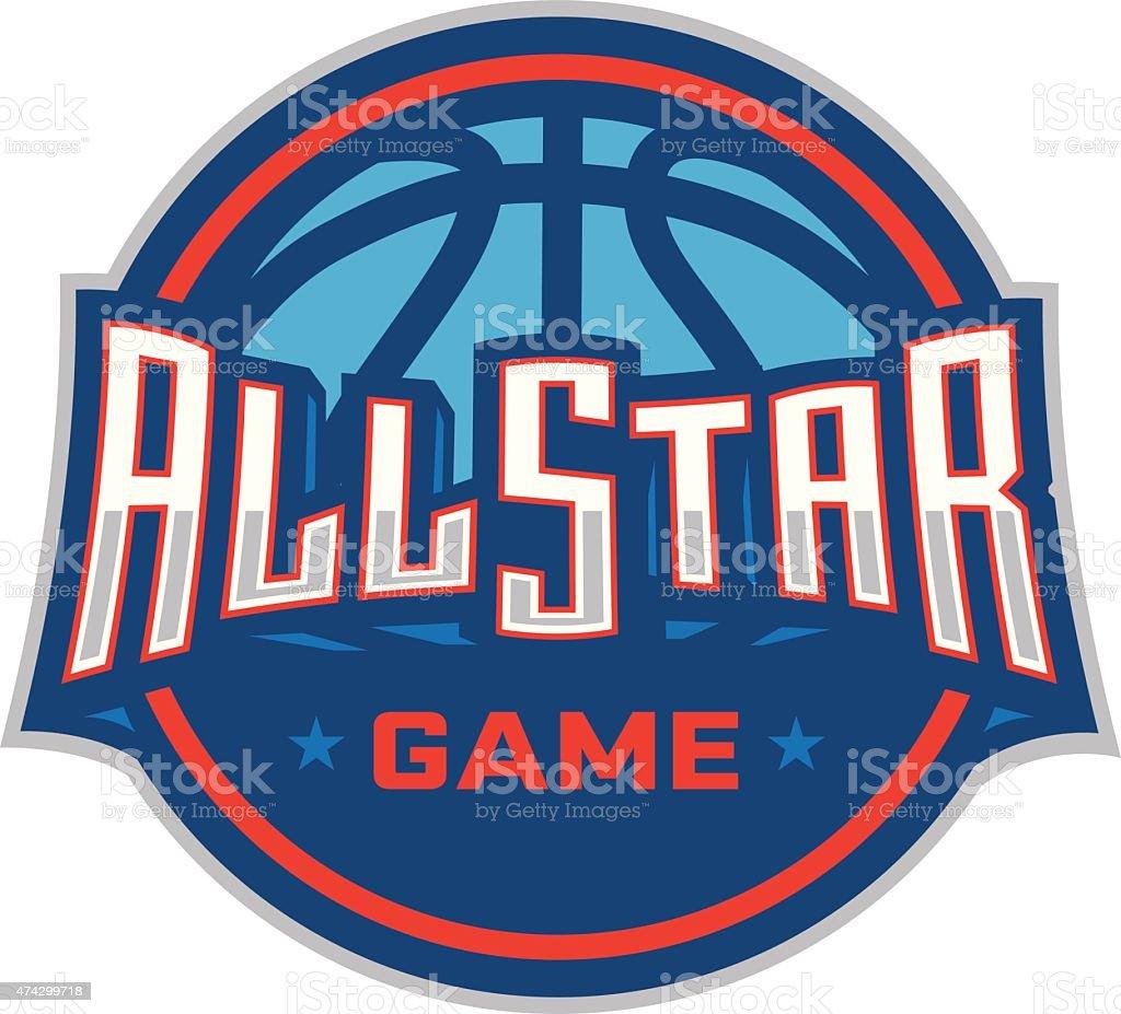 Basketball All-Star Game vector art illustration