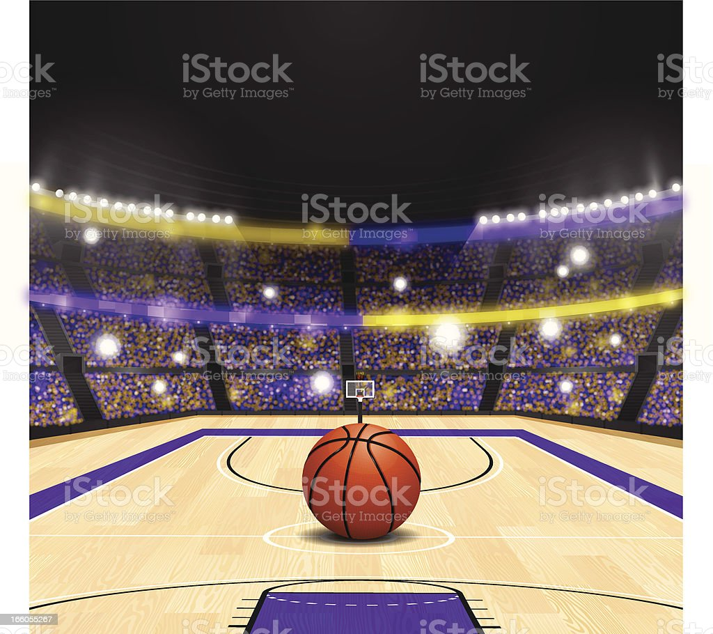 Basketball Arena royalty-free stock vector art