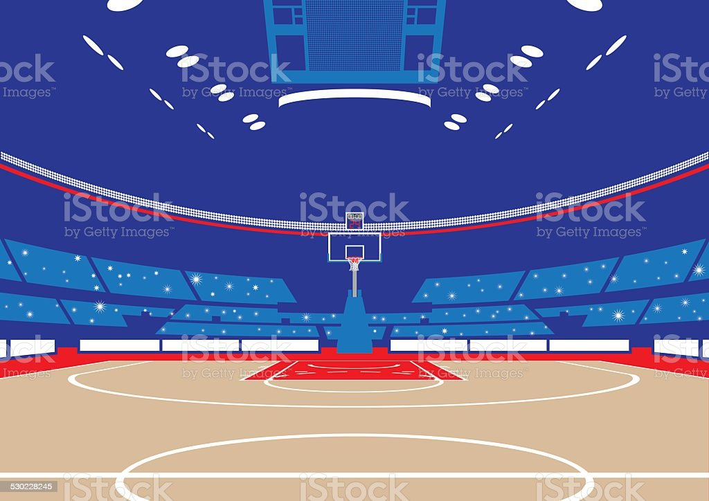 Basketball Arena vector art illustration