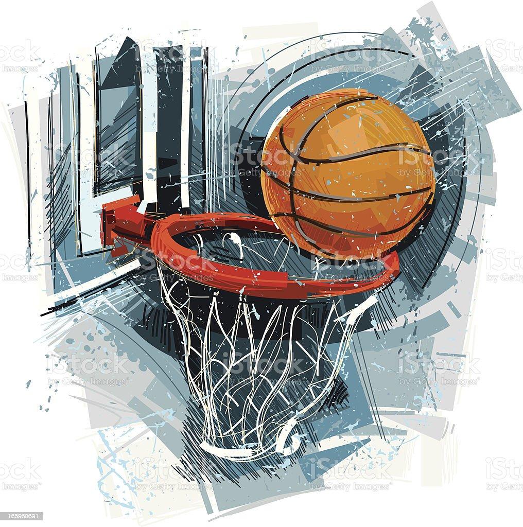 Basketball Arts vector art illustration