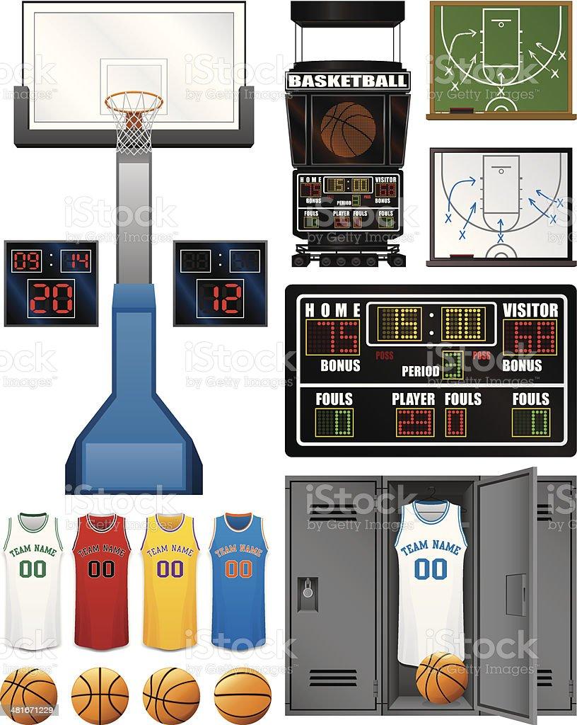 Basketball Assortment vector art illustration