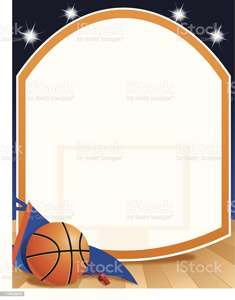Basketball Background royalty-free stock vector art