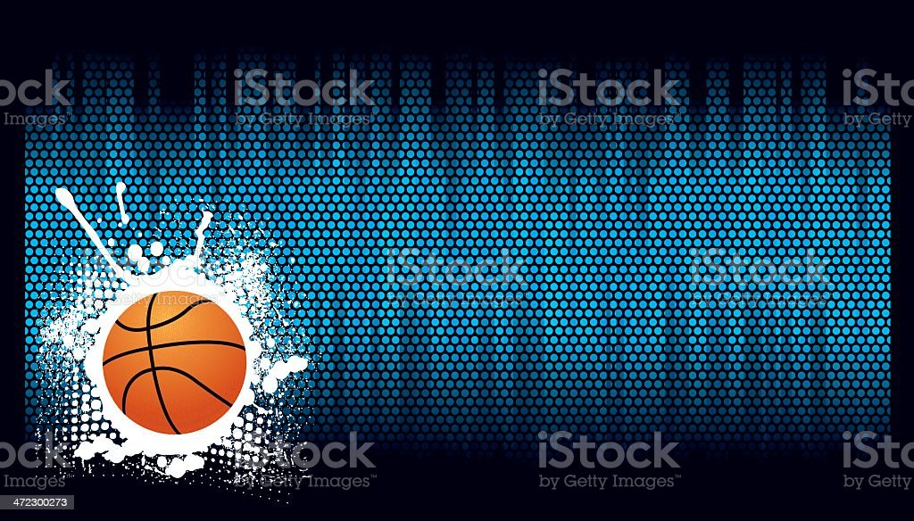 Basketball Background royalty-free stock vector art