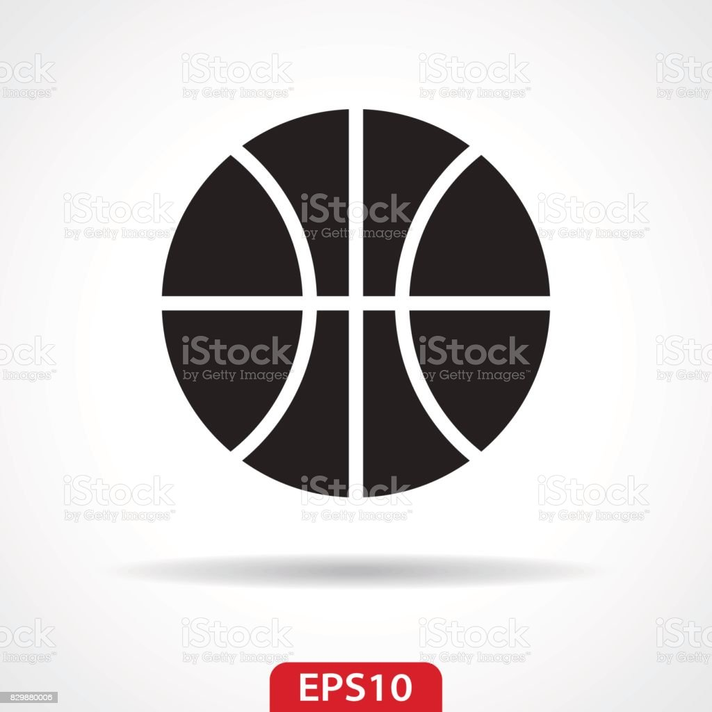 Basketball Ball Flat Icon - Vector Illustration vector art illustration